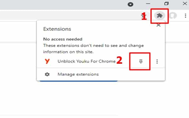 Unblock Youku Extension Add Pin