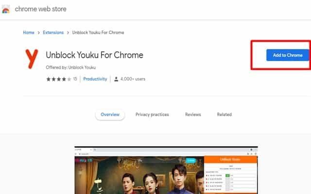 Unblock Youku Extensions
