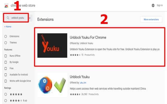 Chrome Web Store Search Unblock Youku