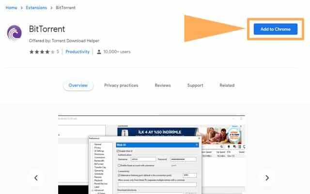 BitTorrent Chrome Extension