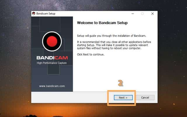 How to install Bandicam 2